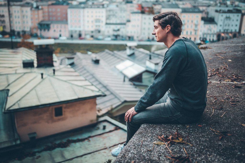 Simon über den Dächern von Salzburg